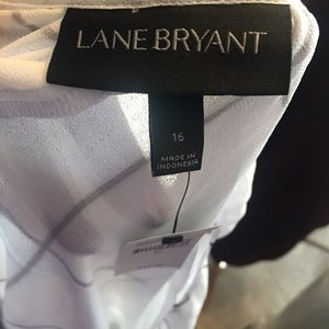 Lane Bryant Tops - Lane Bryant Black&White Adjustable Strap Tank Top